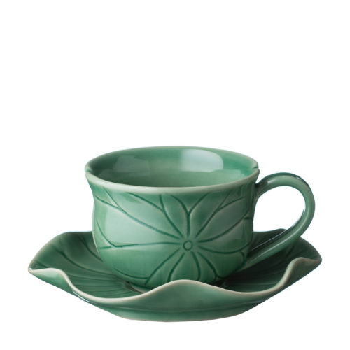 LOTUS CAPPUCCINO SET GREEN GLOSS