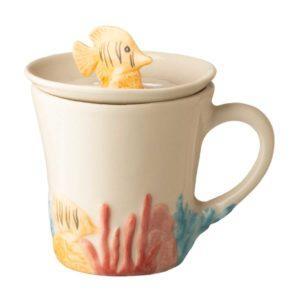 artworks ceramic coral drinkware lid mug stoneware