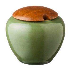 ceramic classic round coffee drinkware accessories green gloss with brown rim stoneware sugar sugar bowl tea teaset