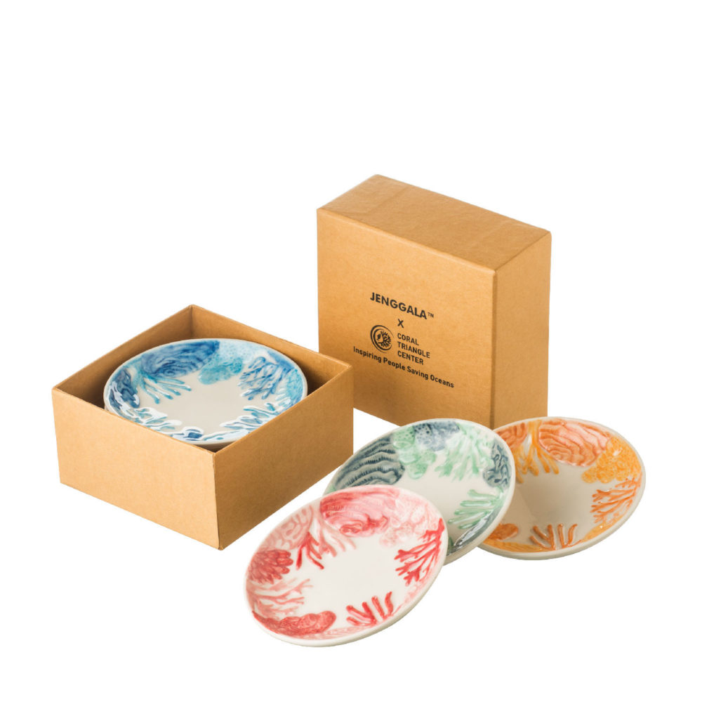 Coral Sauce Dish Set Of 4