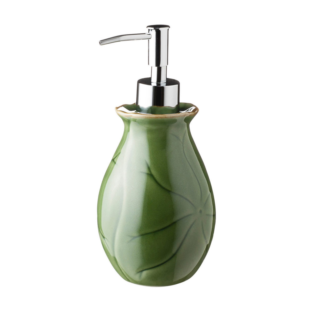 LARGE LOTUS SOAP DISPENSER 1