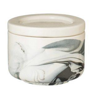 full marbling black jar kitchen kitchen accessories marble stoneware