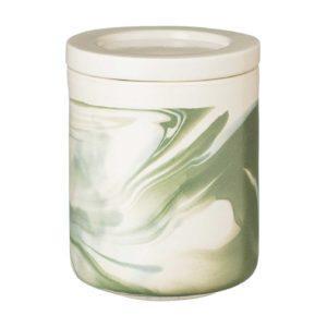 ceramic full marbling green jar kitchen kitchen accessories marble stoneware