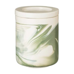 ceramic full marbling green jar kitchen kitchen accessories marble stoneware