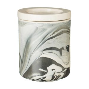 ceramic full marbling black jar kitchen kitchen accessories marble stoneware
