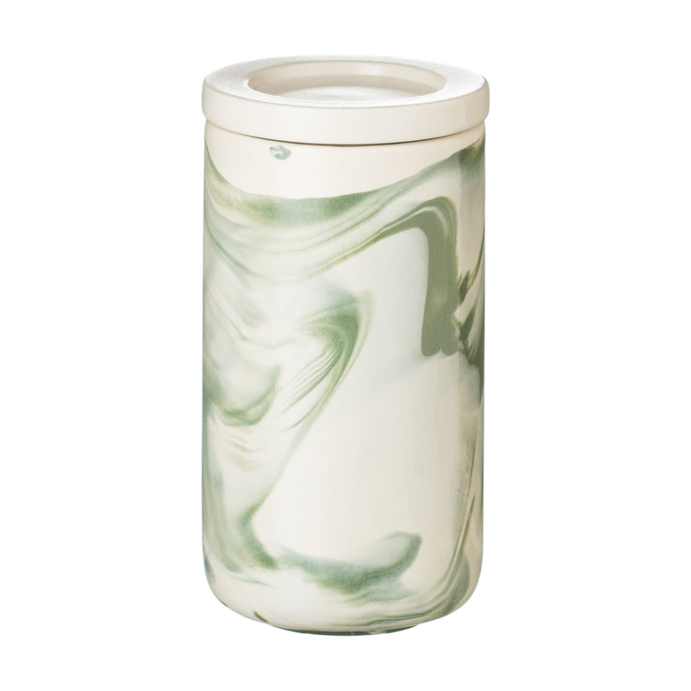 LARGE MARBLE JAR WITH LID