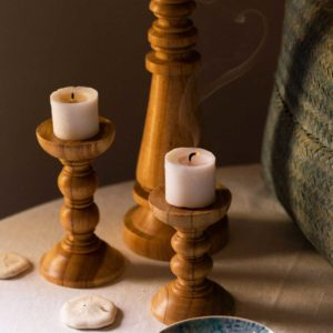 candle candle holder decoration small wood