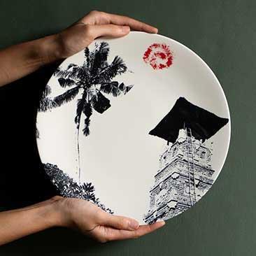 Jenggala keramik bali make a ceramic with a unique design for Kila Infinity 8 Bali