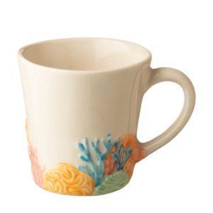 artworks ceramic coral drinkware mug stoneware