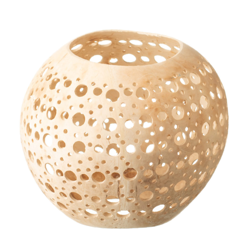 Coconut Shell Candle Holder with Big Hole