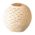 Coconut Shell Candle Holder with Fish Scales