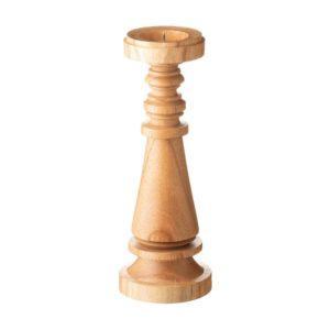 candle holder large wood