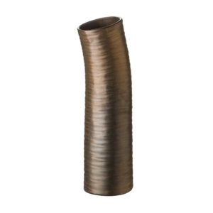 matte metallic bronze stoneware vase