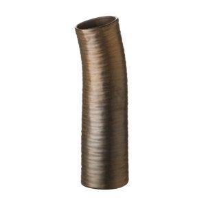 ceramic matte metallic bronze stoneware vase