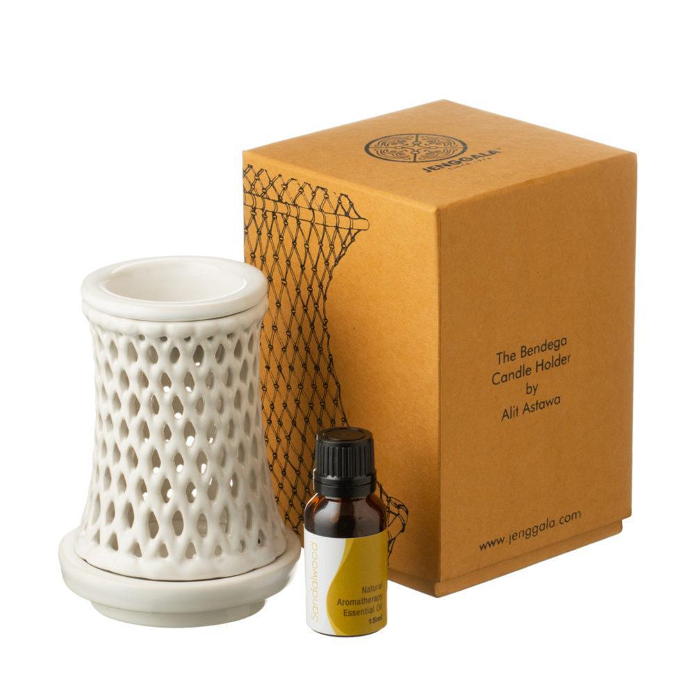 Bendega Candle Holder Set with Sandalwood Fragrance