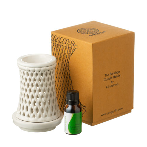 Bendega Candle Holder Set with Lemongrass Fragrance