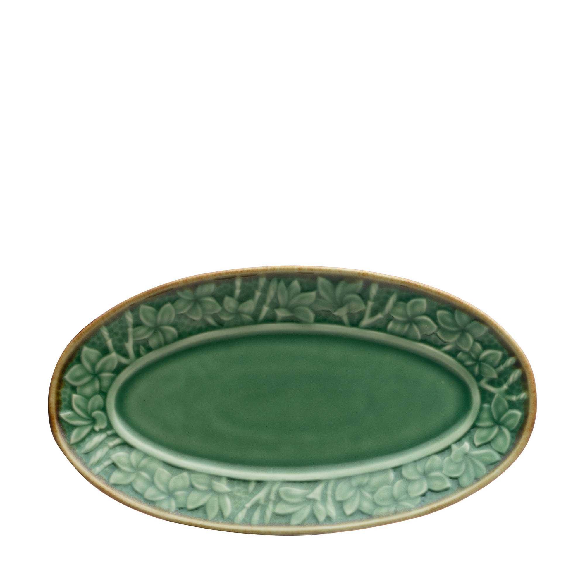 Frangipani Oval Plate set by Lukas
