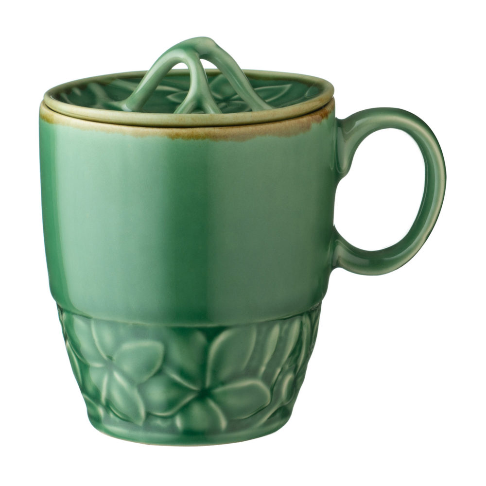 Frangipani Mug with Lid by Lukas