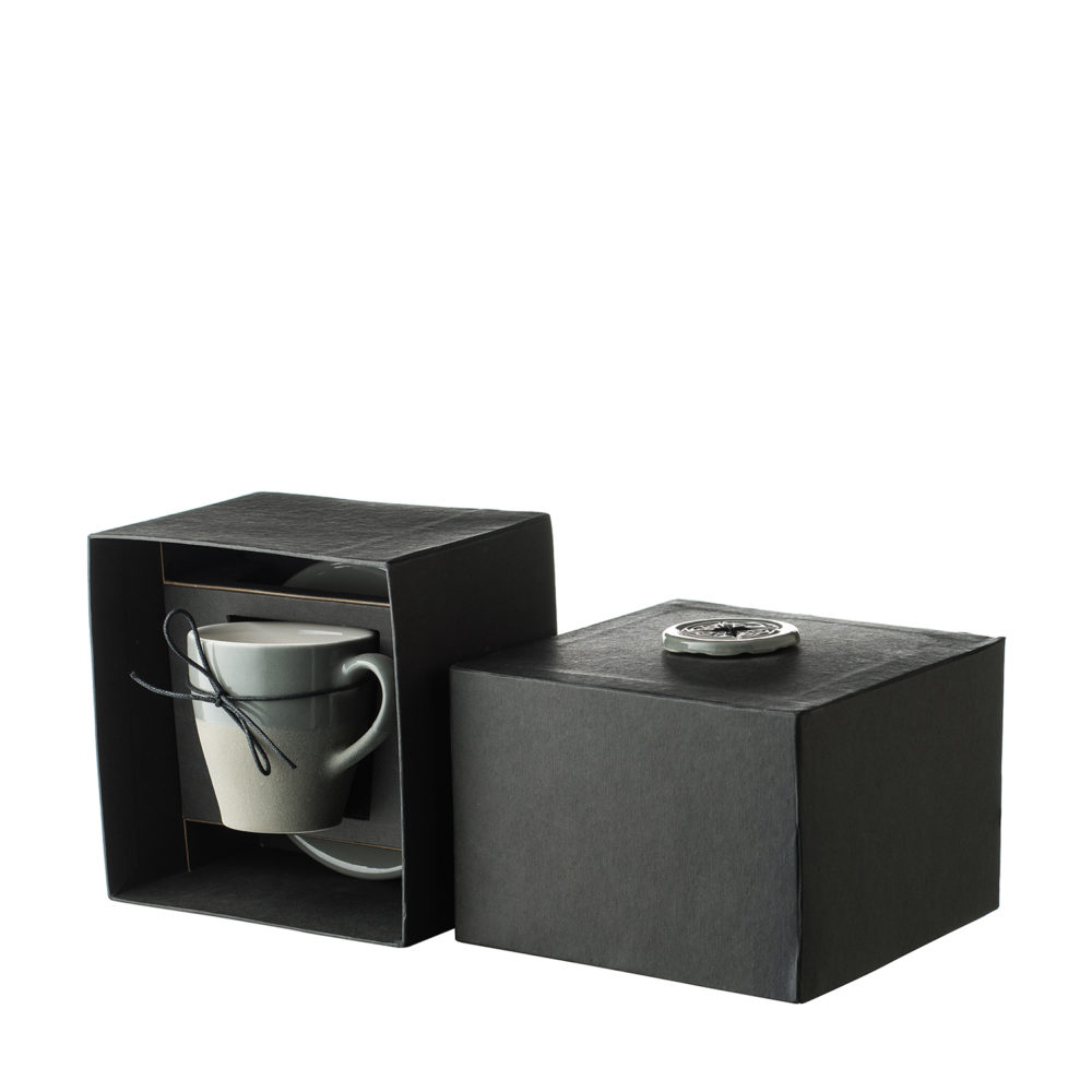 Narrow Coffee Cup & Saucer Set
