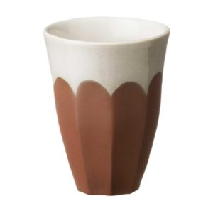 bevel cup dustyterracotta large