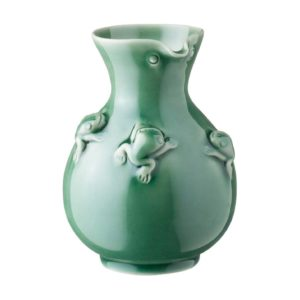 frog collection sake bottle