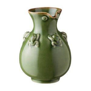 frog collection sake bottle