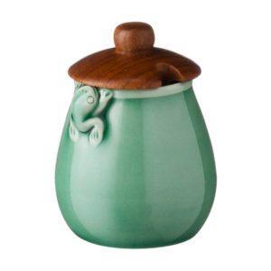 frog sugar bowls