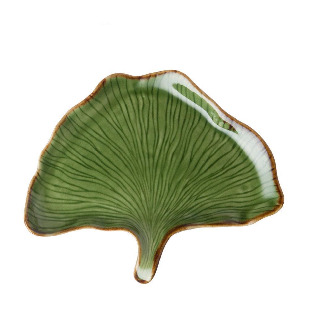 Ginko Leaf Bread & Butter Plate