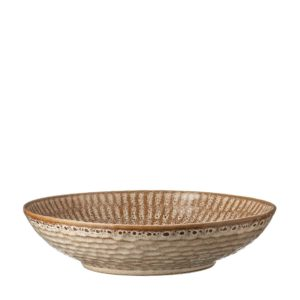 hammered pasta bowl safari beige