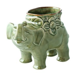 elephant flower vase vase