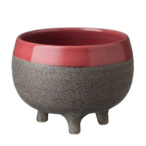 black quartz pink cup & saucer jenggala medium tripod cup tripod cup