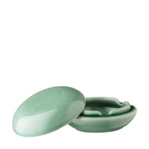 ceramic ashtray round ashtray with cover