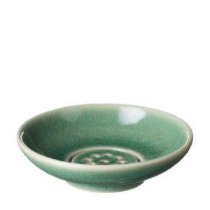 dish green crackle jenggala soap soap dish