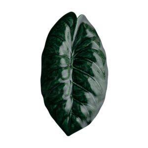 emerald green jamies jenggala leaf leaf plate plate