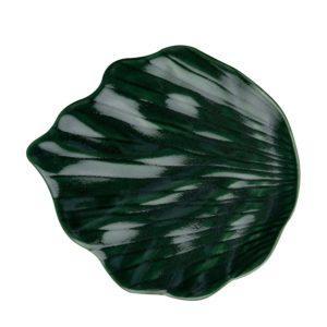 elegant elegant leaf plate emerald green jamies jenggala leaf leaf plate