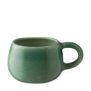 ceramic coffee cup drinkware espresso saucer glass green gloss with brown rim handbag mug saucer small saucer stoneware tea teaset