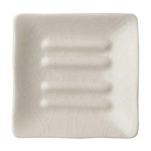 classic collection jenggala soap dish white crackle