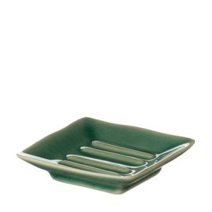 classic collection green crackle jenggala soap dish