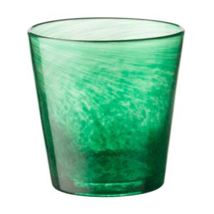 glassware tapered glass water glass