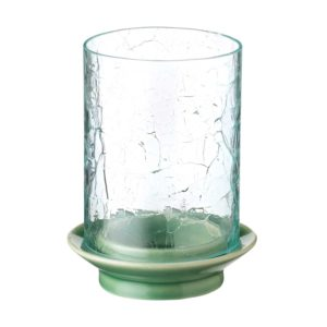 candle dark green gloss glass glass candle holder holder jenggala