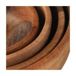 bowl soup bowl teakwood wooden