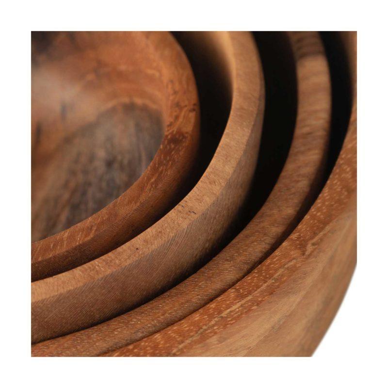 Wooden Round Sauce Dish