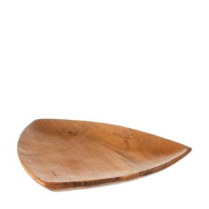 jenggala natural teakwood ogfr plate salad and dessert triangle plate wooden