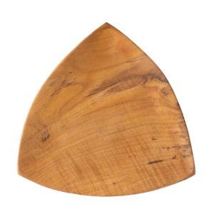 teak wood triangle plate wooden