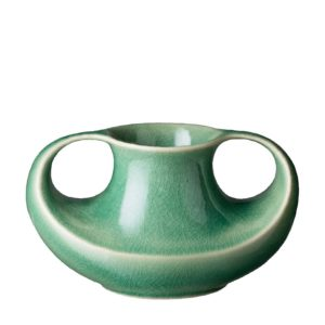 classic flower vase green crackle small flower vase
