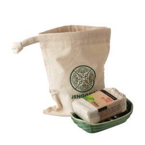 dark green gloss jenggala pincuk pincuk soap dish soap dish