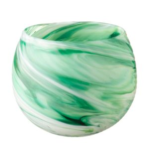candle holder glassware jenggala spiral round