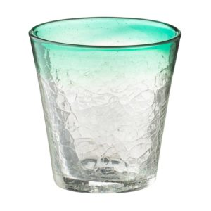 crackle glassware jenggala tapered glass