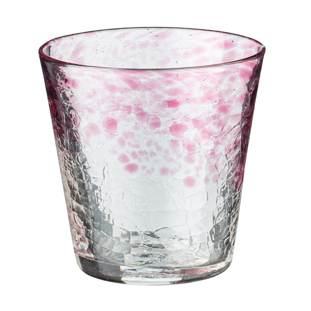 Tapered Glass Short Crackle