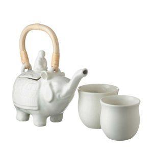 elephant style tea set teapot